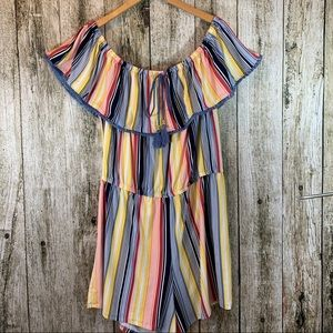 NWT Fab Summer Short Outfit in Bold Stripes 2X